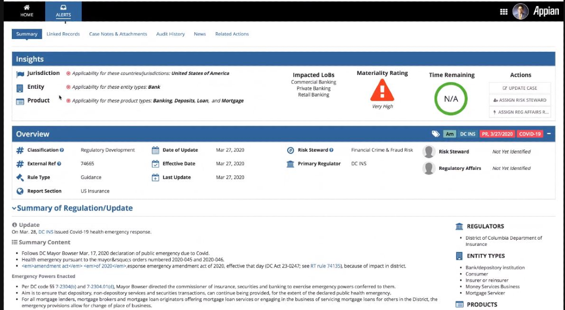 appian horizon scanning alerts summary insights and overview